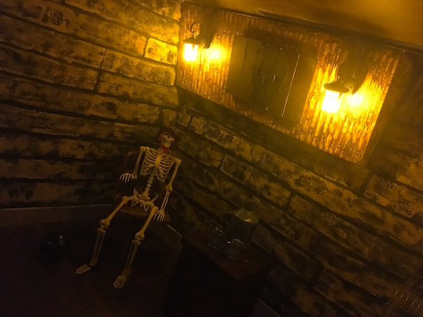In-game: A shot in the ships galley of a skeleton.