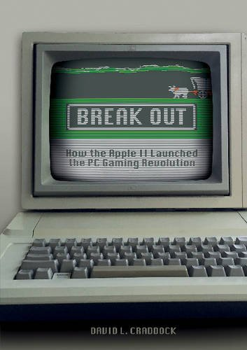 Break Out book cover features an Apple II with Oregon Trail's load screen.