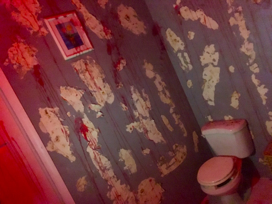 In-game: A blood-soaked bathroom.