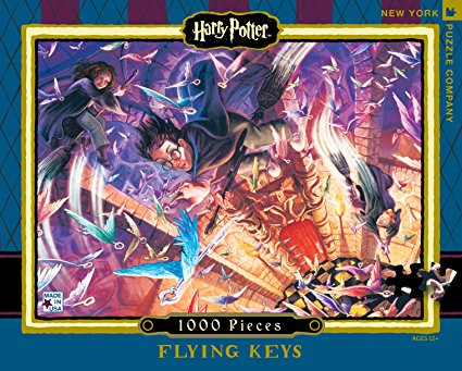 The art for the Harry Potter Flying keys 1000 piece puzzle.