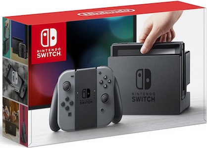 The box art for a grey Nintendo Switch.