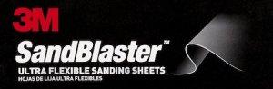 3M SandBlaster ultra flexible sanding sheets logo.