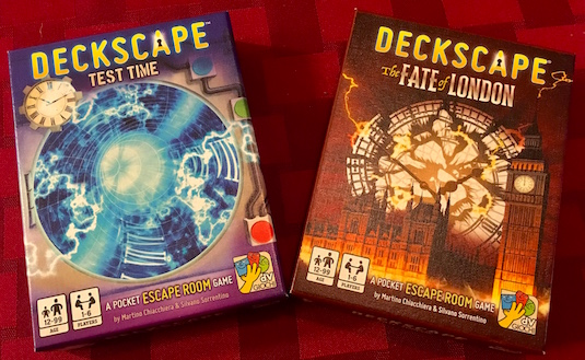 Deckscape Test Time & The Fate of London boxes.