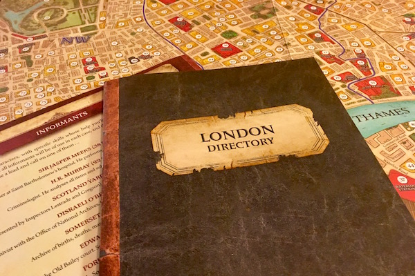 The London Directory, Informants list, and London map.