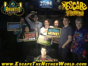 Haunted team post-game photo.