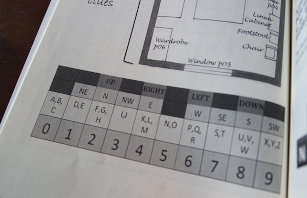 The answer converter the allows players to translate directions and letters into numbers.