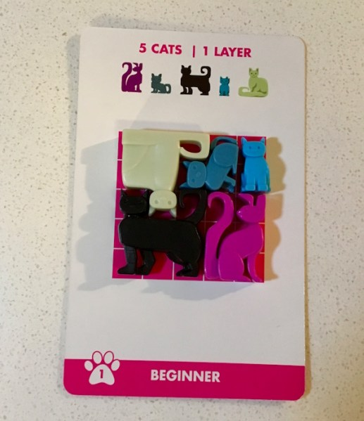 The first Cat Stax puzzle solved.