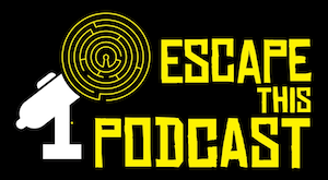 The Escape This Podcast labyrinth microphone logo