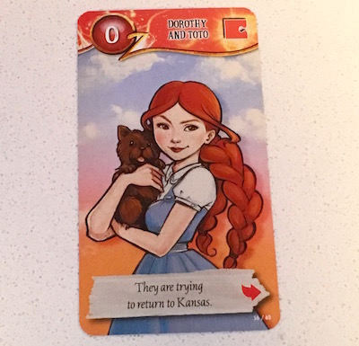 The Dorothy and Toto character card.