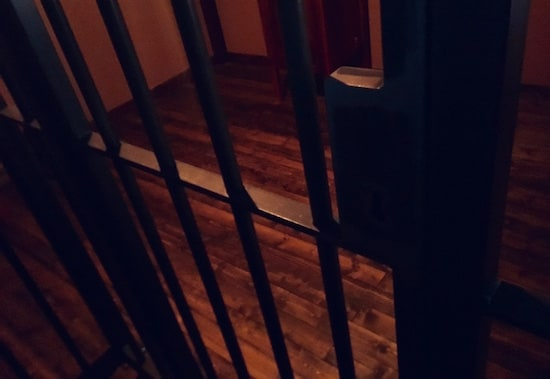 In-game: jail cell bars.
