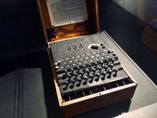 An original enigma machine.