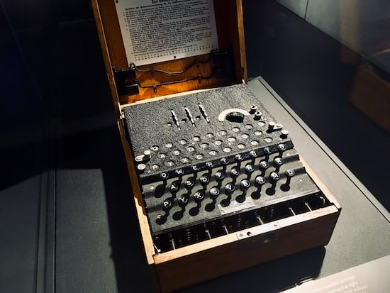 An original enigma machine.