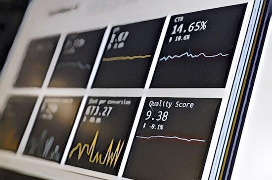 An analytics dashboard.