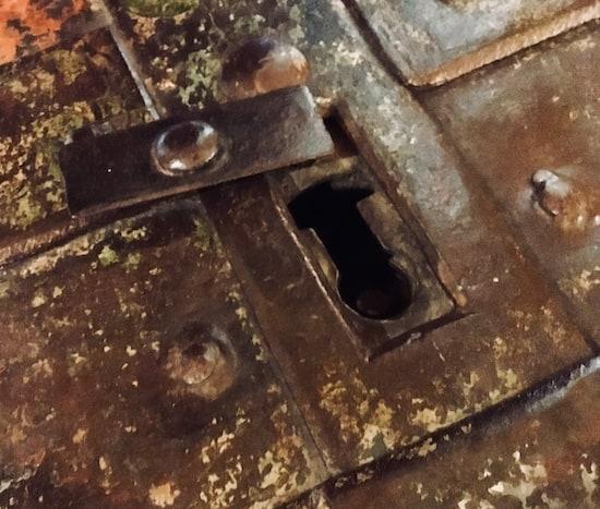 Open key hole trap door.