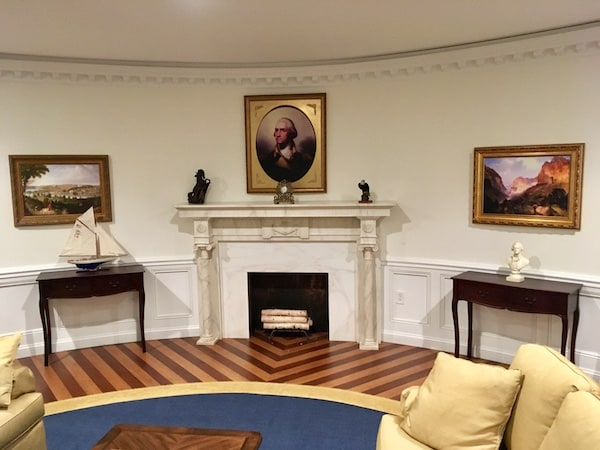 In-game: George Washington's portrait over the Oval Office's mantle.