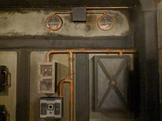 In-game: A series of pipes connection boxes.