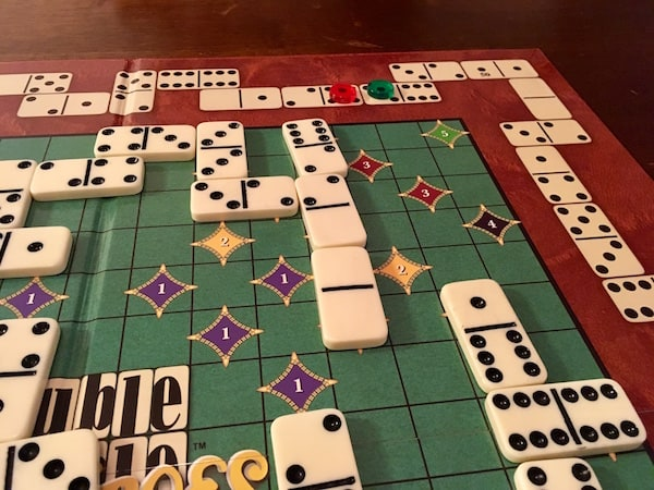 The board mid-game.