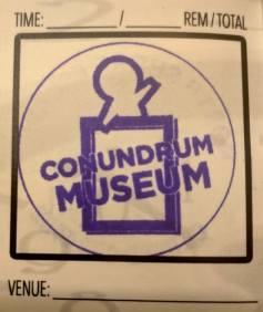 Boxaroo's Conundrum Museum stamp.