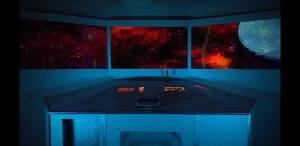 In-game: a spaceship's bridge.