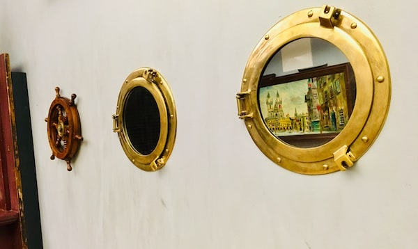 In-game: Porthole windows and mirrors.