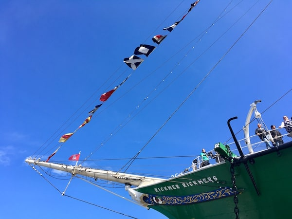 The bow of the RICK RICKMERS.