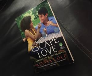Can't Escape Love by Alyssa Cole's Novella cover depicts a woman in a wheel chair sharing ice cream with a man.