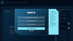 Digital interface for identifying the suspect based on old school records.