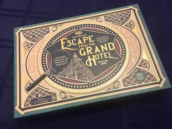 The ornate and gilded box art for Escape From The Grand Hotel.