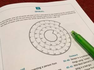 The grid for one of the Spiral puzzles.