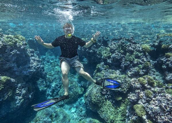 Steve snorkeling.
