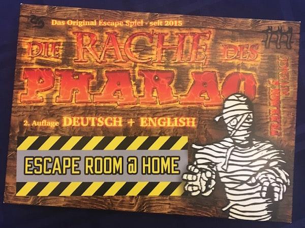 "The German & English cover for ""Pharoah's Revenge an Escape Room @ Home"""