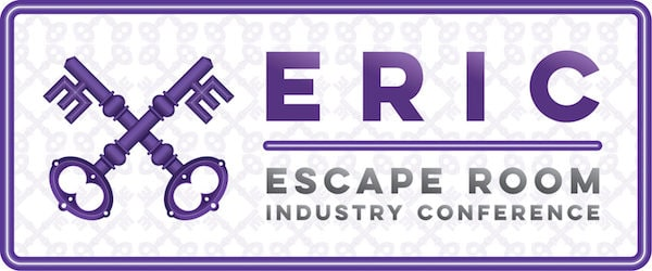 Escape Room Industy Conference's cross keys banner.