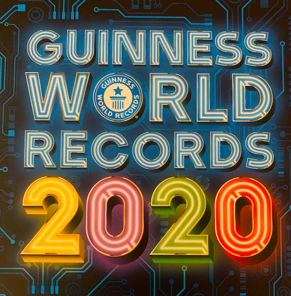 Guinness World Records 2020 book cover.