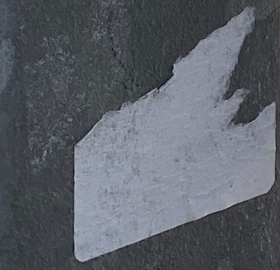 The residue of a tron sticker.