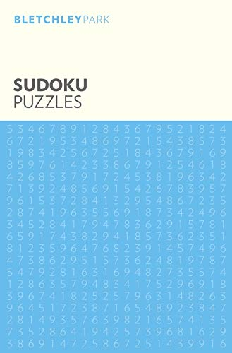 The elegant black, white, and blue Sudoku Puzzle book.