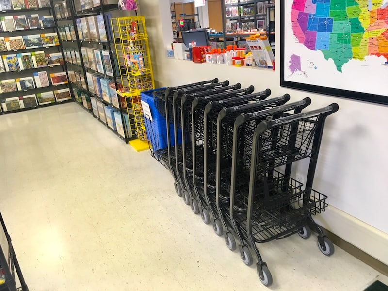 Shopping carts in the Puzzle Warehouse