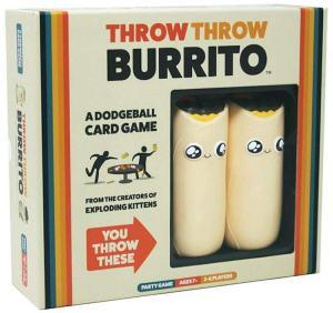 The cover of throw throw burrito depicts two cartoonish burritos.