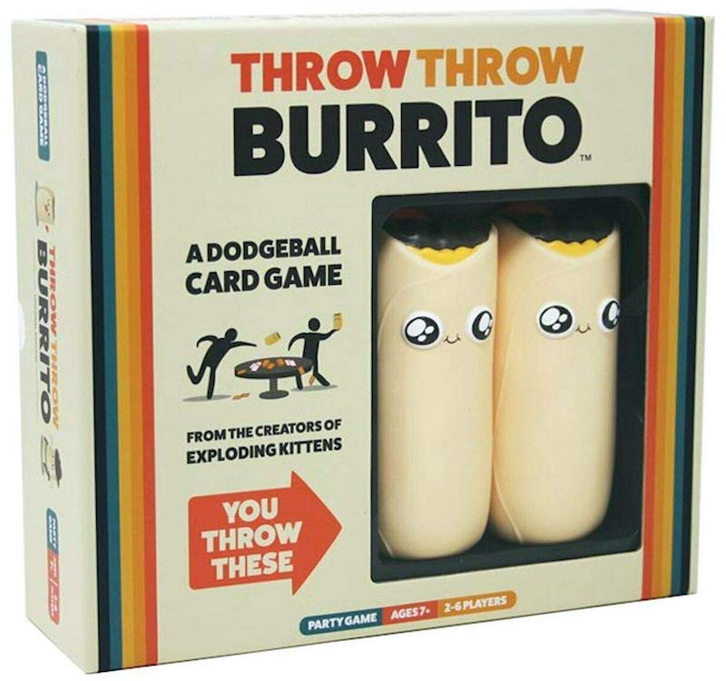 The cover of throw throw burrito depicts two cartoonish burritos.