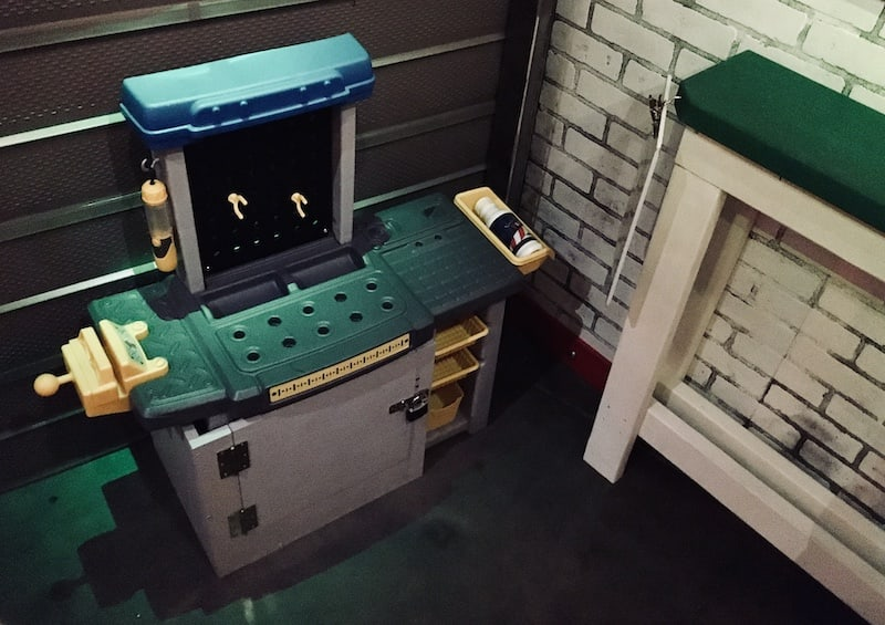 In-game: a toy workbench.