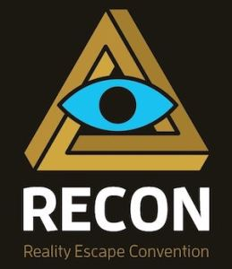 RECON eye & penrose triangle logo.