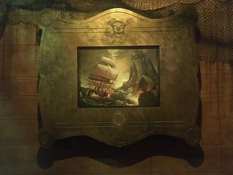 In-game: A painting of a sea battle.