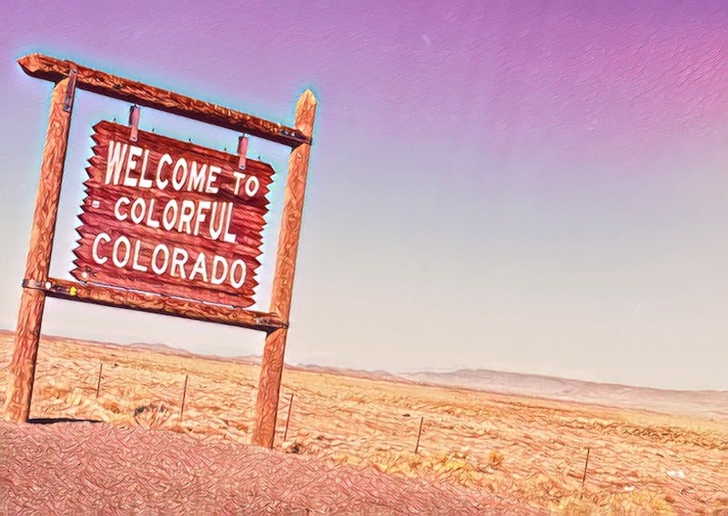 "Sign that reads, ""Welcome to Colorful Colorado"""