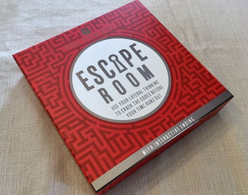 The red maze box art for Host Your Own Escape Room.