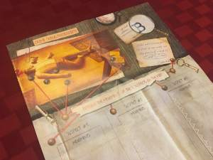 Sherlock Holmes suspect map.