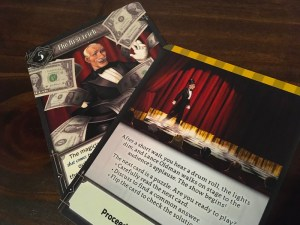 Early puzzle cards introducing the main character, magician Lance Oldman.