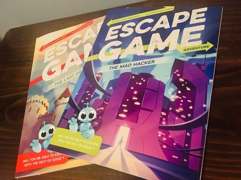 The covers of both the Last Dragon & The Mad Hacker Escape Game Adventure books.