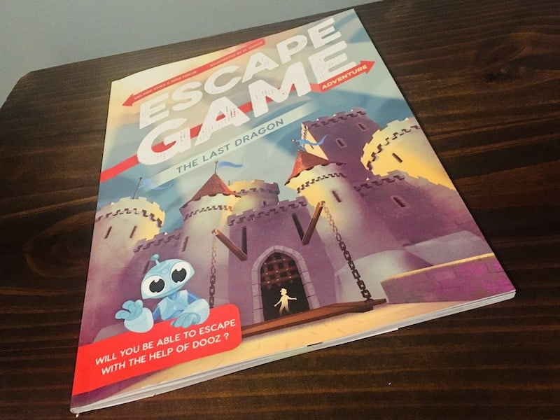The castle cover art for The Last Dragon Escape Game Adventure book.