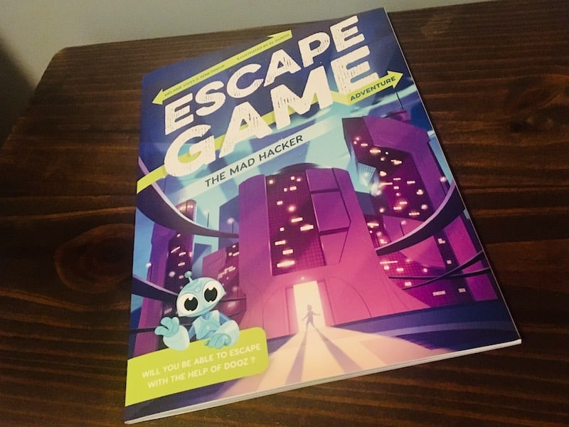 Cover art for the Mad Hacker Escape Game Adventure book.