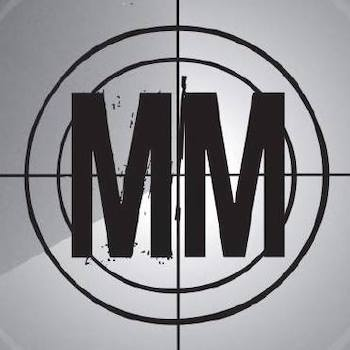 """Missions Morpheus """"MM"""" in a target reticle logo."""
