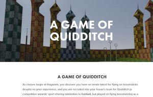 In-game: A description of the game Quidditch.